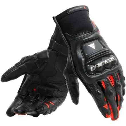 Guanti Steel-Pro In nero rosso fluo Dainese
