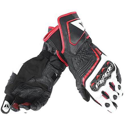 Guanto Carbon D1 long nero-bianco-rosso Dainese