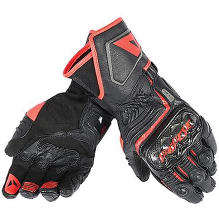 Guanto Carbon D1 long nero-rosso Dainese