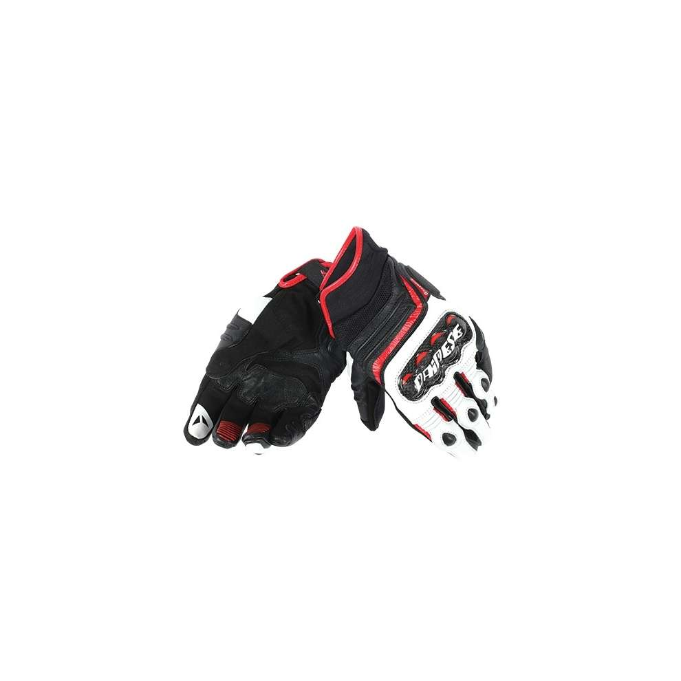 Guanto Carbon D1 short nero-bianco-rosso Dainese