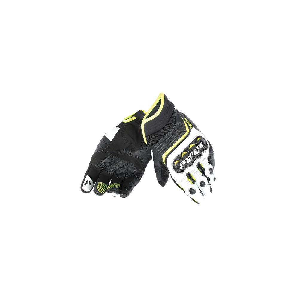 Guanto Carbon D1 short nero giallo fluo Dainese