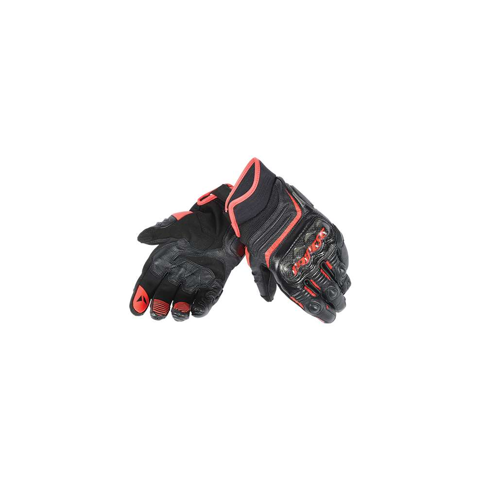 Guanto Carbon D1 short nero-rosso Dainese