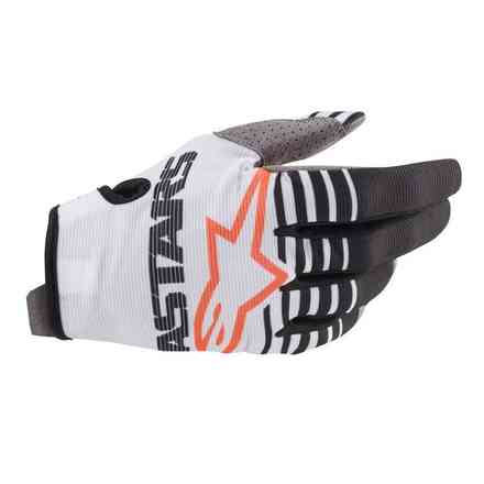 Guanto Cross Radar bianco nero Alpinestars