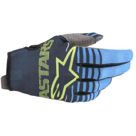 Guanto Cross Radar navy aqua Alpinestars