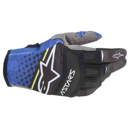 Guanto Cross Techstar blu scuro nero Alpinestars