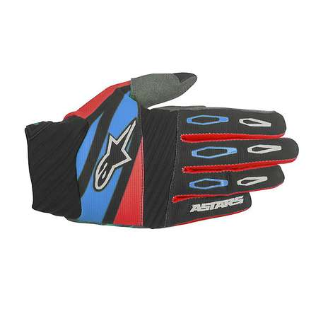 Guanto cross Techstar Factory 2016 nero-rosso-blu Alpinestars