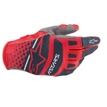 Guanto Cross Techstar rosso navy Alpinestars