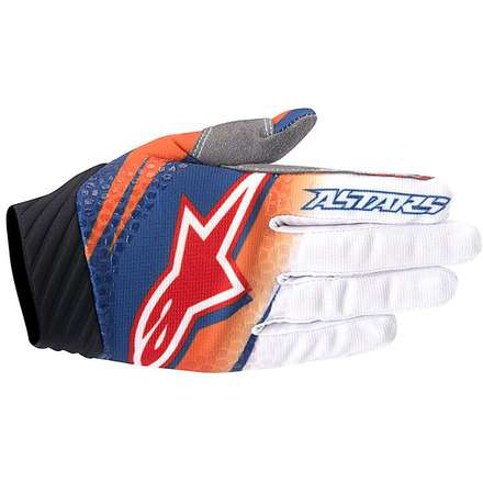 Guanto cross Techstar Venom 2016 arancio-bianco-navy Alpinestars
