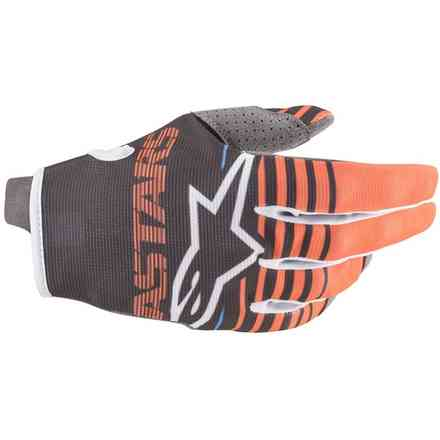 Guanto Cross Youth Radar antracite arancio fluo Alpinestars