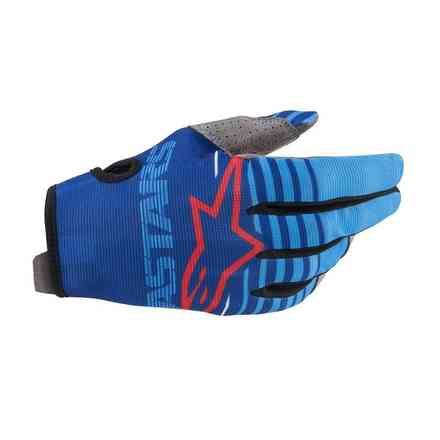 Guanto Cross Youth Radar blu aqua  Alpinestars