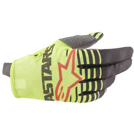 Guanto Cross Youth Radar giallo fluo antracite Alpinestars