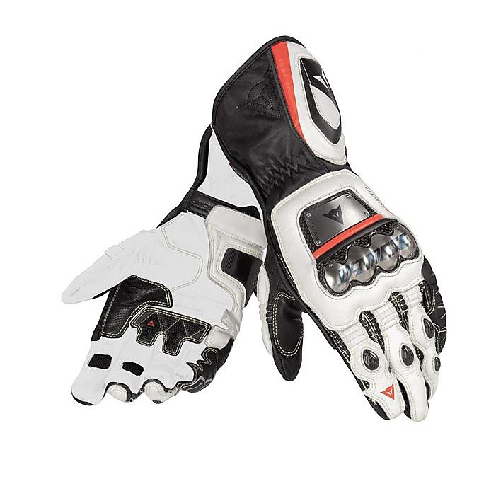 Guanto Full Metal D1 nero-bianco-rosso fluo Dainese