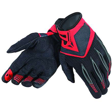 Guanto Paddock Nero-Rosso Dainese