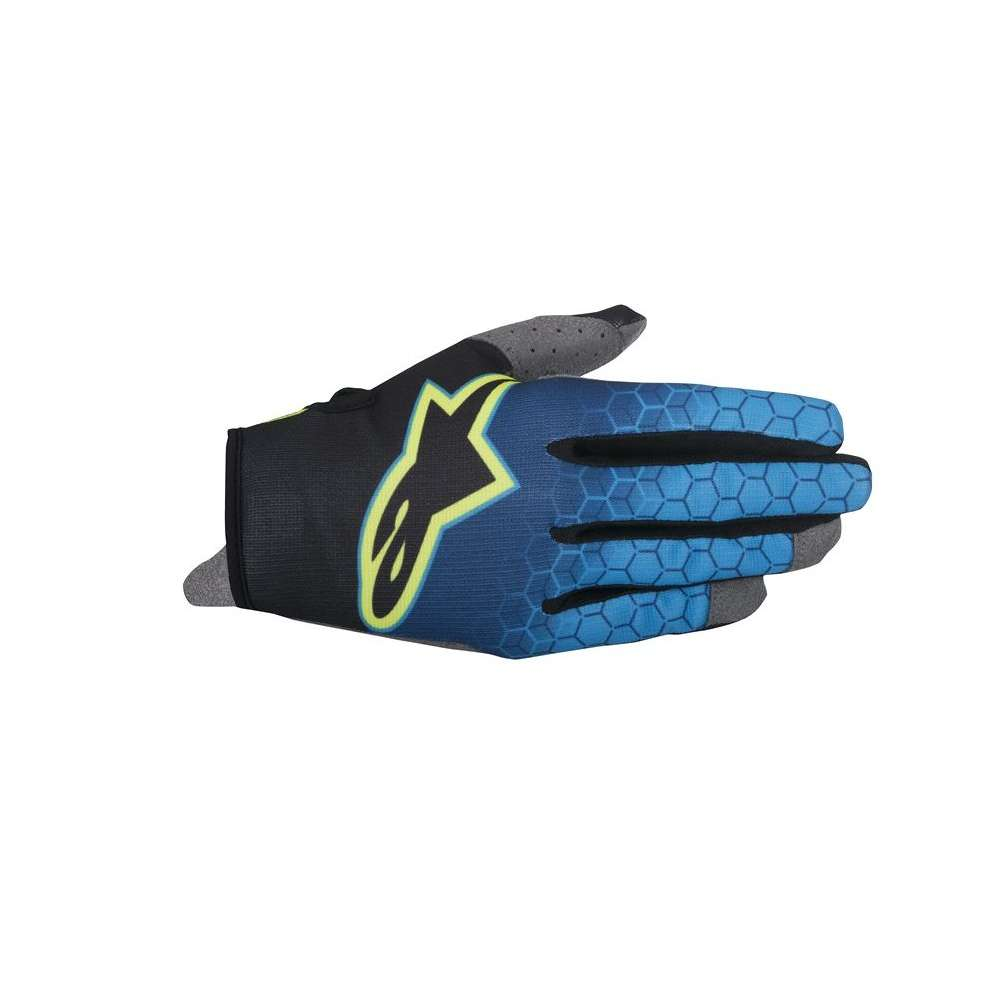 Guanto Radar Flight blu giallo fluo Alpinestars