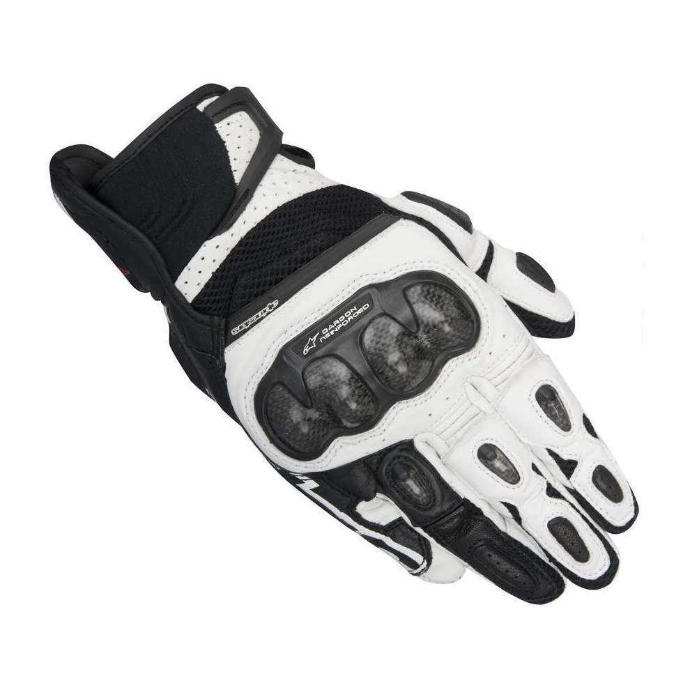 Guanto Sp-x  Air Carbon nero-bianco Alpinestars