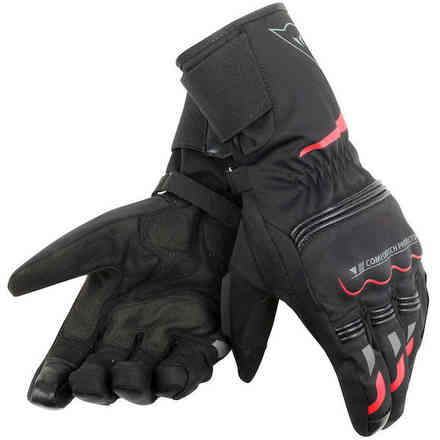 Guanto Tempest D-Dry Long nero rosso Dainese