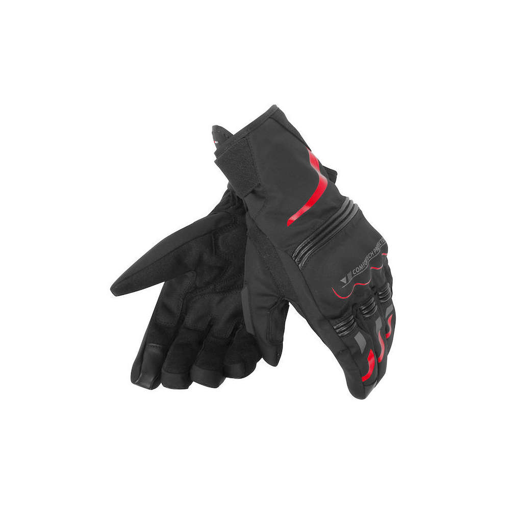 Guanto Tempest D-Dry Short nero rosso Dainese