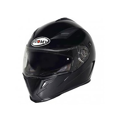 Halo Plain Matt Black Helmet Suomy