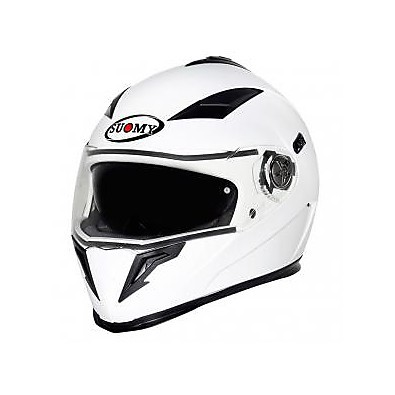 Halo Plain White Helmet Suomy