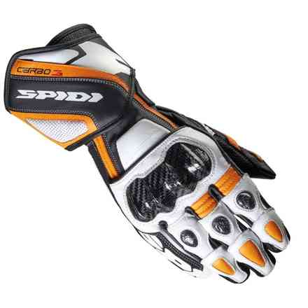 Handschuhe Carbo 3 schwarz orange Spidi