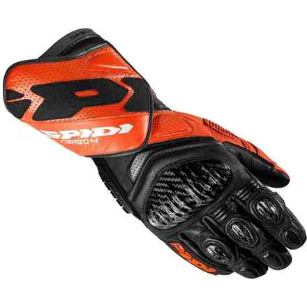 Handschuhe Carbo 4 schwarz orange Spidi