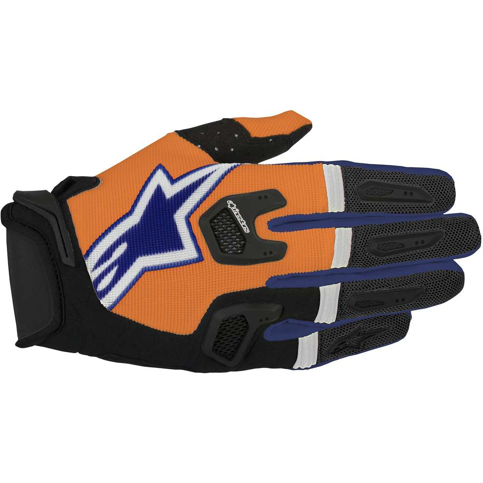 Handschuhe Racefend orange blau Alpinestars