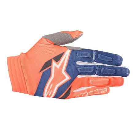 Handshuhe Aviator 2018 Orange fluo dark Blau Alpinestars