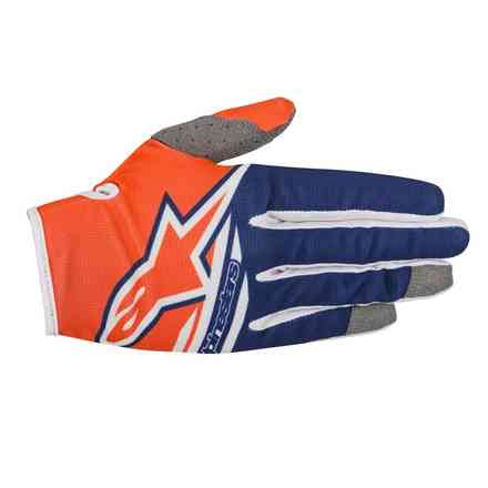 Handshuhe Radar Flight 2018 cross Orange Blau Weiss Alpinestars