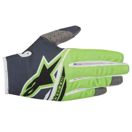 Handshuhe Youth Radar 2018 Flight Antrazite Grune Fluo Alpinestars
