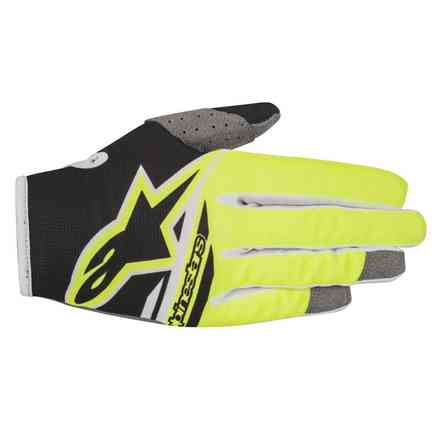 Handshuhe Youth Radar Flight 2018 Schwarz Gelb fluo Alpinestars