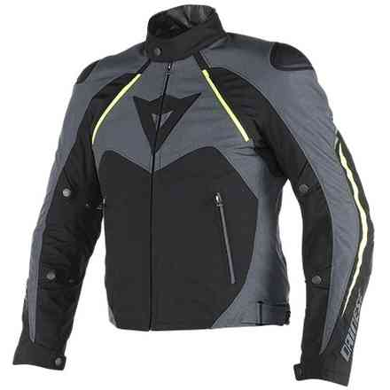 Hawker d-dry jacket black-ebony-yellow fluo Dainese