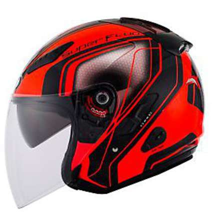 Hellcat Superfluo Red helmet KYT