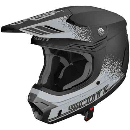 Helm 350 Evo Plus Retro Ece Grau Schwarz  Scott