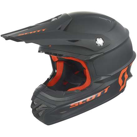 Helm 350 Pro Mono schwarz matt-orange Scott
