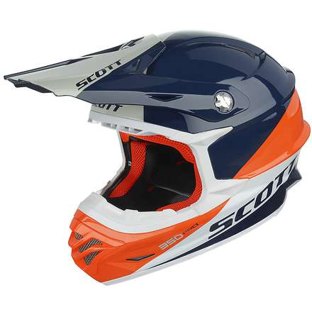 Helm 350 Pro  Trophy blau-orange Scott