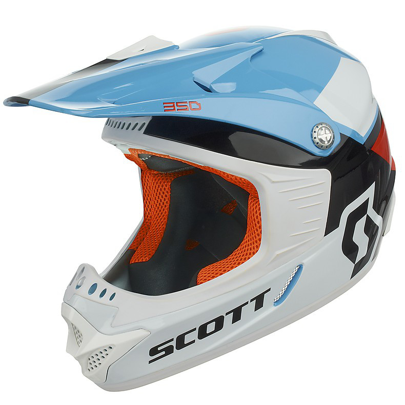 Helm 350 Race Ece Junior schwarz-rot Scott