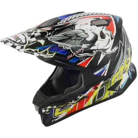 Helm Alpha Skull Red Suomy