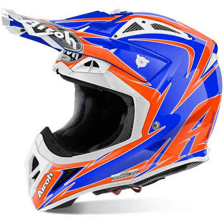 Helm Aviator 2.2 Edge Blu Airoh