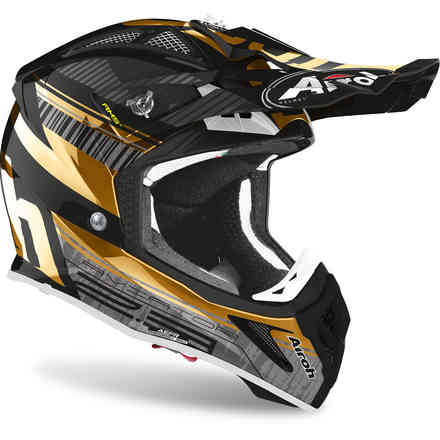 Helm Aviator 2.3 Novak Chrome Gold Airoh