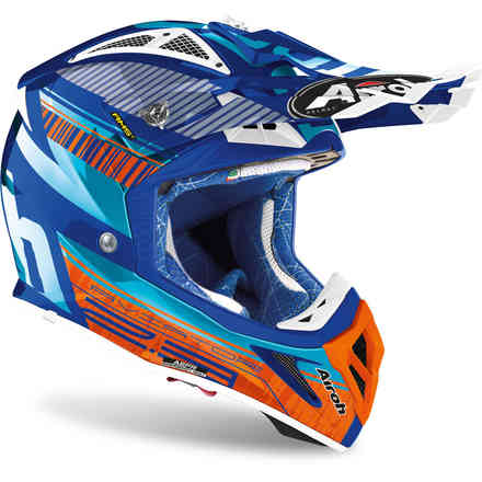 Helm Aviator 2.3 Novak Chrome Hellblau Airoh