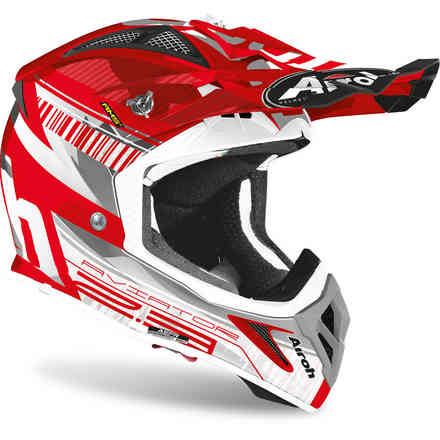 Helm Aviator 2.3 Novak Chrome Rot Airoh