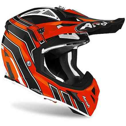 Helm Aviator Ace Art Orange Glanz Airoh