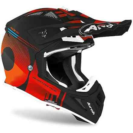 Helm Aviator Ace Nemesi Orange Matt Airoh
