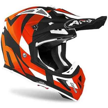 Helm Aviator Ace Trick Orange Matt Airoh