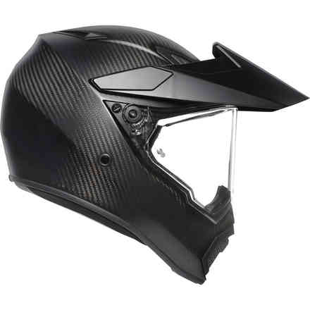 Helm Ax9 Solid Matt Carbon Agv