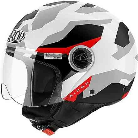 Helm Compact Camo weiss Airoh