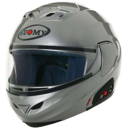 Helm D20 Plain Silver Suomy