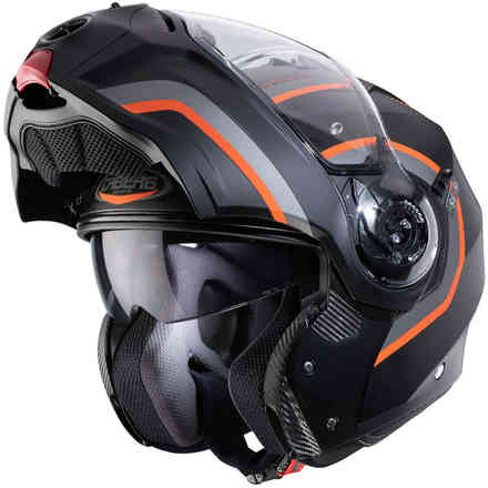 Helm Droid Pure Matt Schwarz Antrazyt Orange Caberg