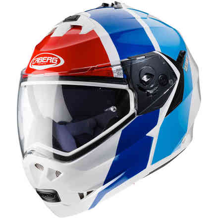 Helm Duke II Impact Weiss metal Rot Blau Light Caberg