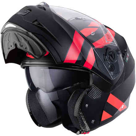 Helm Duke II Superlegend Matt Schwarz Rot fluo Caberg